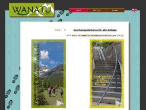 WANATU alte Homepage