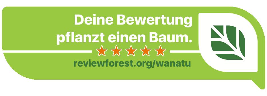 Für Deine Bewertung pflanzen wir einen Baum Forest Review
