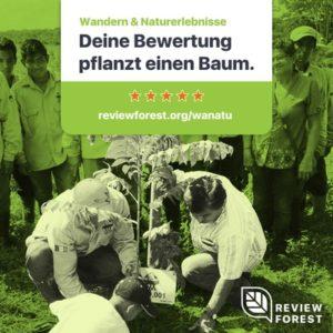 Grünes Bild Review Forest wir pflanzen einen Baum für Eure google Bewertung wanatu